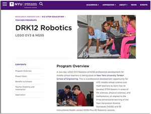 DRK12 Robotics website