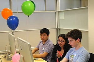 A team from the Dalton School in New York City won the April 7 Cornell University High School Programming Contest. Image courtesy of Cornell University.