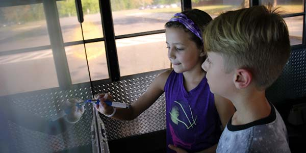 Newington Public Schools has outfitted a bus to turn it into a mobile technology lab ready to host lessons in basic computing applications, robotics and 3D printing.
