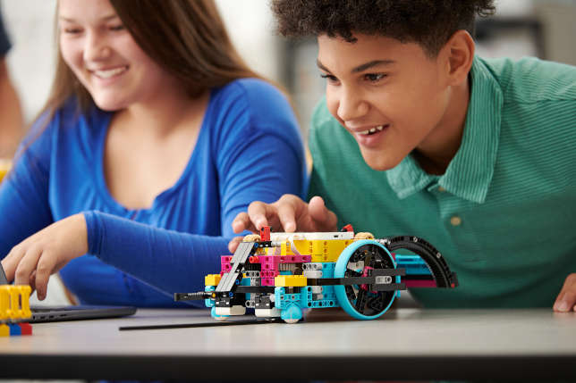 LEGO Education SPIKE Prime, a hands-on classroom robotics and coding system for grades 6–8.