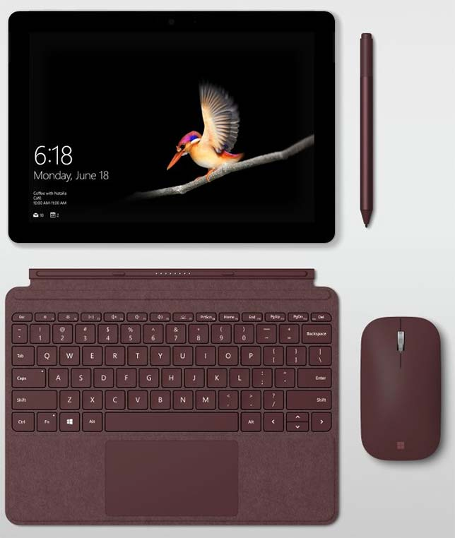 Microsoft is expanding its line of Surface devices with the Surface Go, a $399 version of the popular tablet/laptop. Schools deploying Surface Go will have the option of running either Windows 10 Home in S mode or Windows 10 Pro.