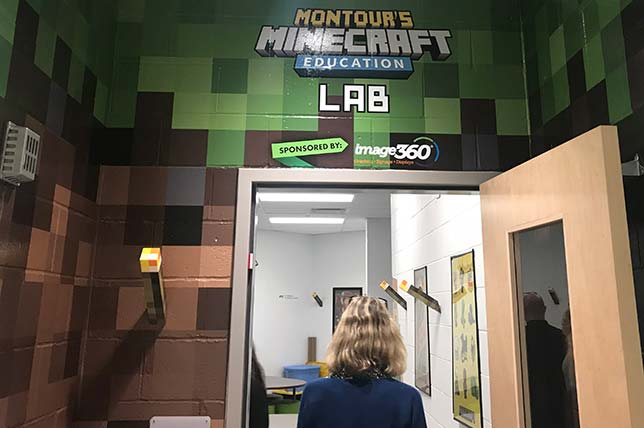 Montour Elementary, in the greater Pittsburgh area, has a Minecraft lab and a variety of dedicated maker and STEAM-related spaces. More on Montour's makerspaces can be found here.