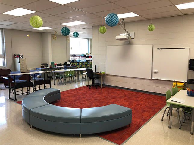 Resources such as furniture and technology serve to enhance instruction, not merely to create new seating arrangements.