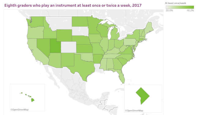 uneven access to music education among 8th graders in the united states