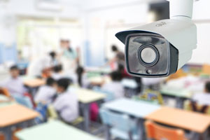 surveillance camera in classroom