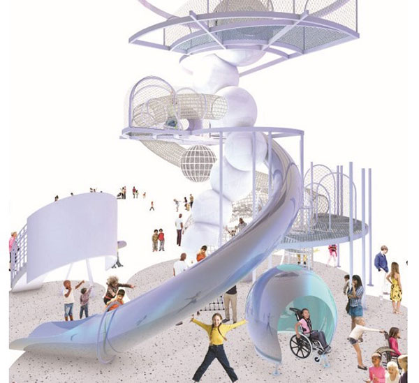 A rendering of the Dream Machine at National Children's Museum.