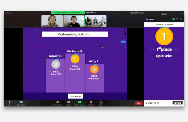 Kahoot Zapp Adds Zoom Integration