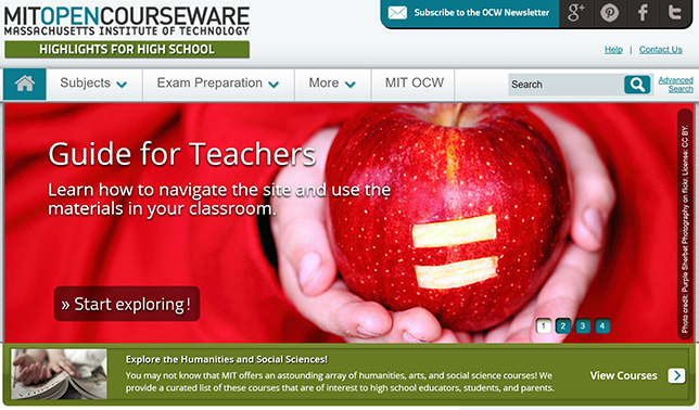 MIT's OpenCourseWare for Secondary Education