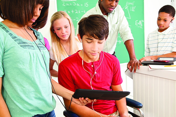special needs students using technology in classroom