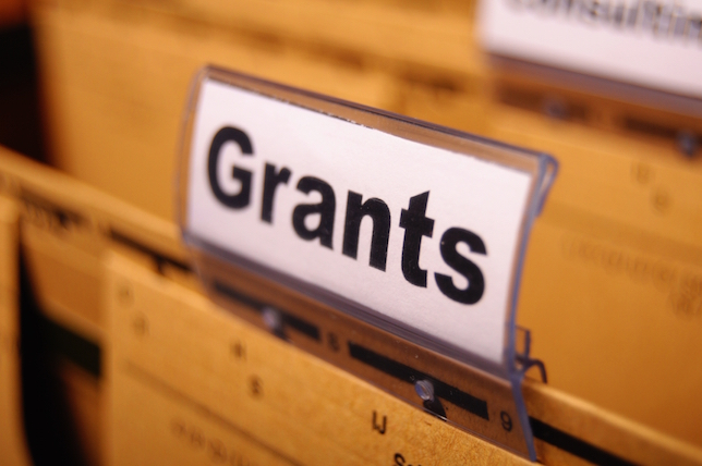 image of file folder labeled grants