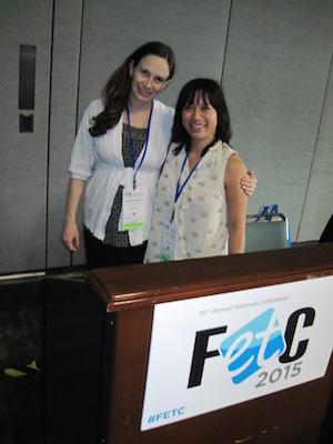 Leah Plunkett, (l) and Paulina Haduong, fellows at the Berkman Center for Internet & Society spoke about privacy for students Thursday at the FETC 2015 conference Thursday in Orlando.