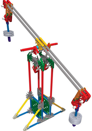 Philadelphia students will be asked to build environmentally friendly vehicles using K'nex pieces similar to those pictured.