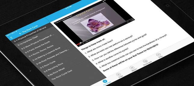 The Vision ME iPad classroom workflow app allows the use of multiple languages in the classroom.