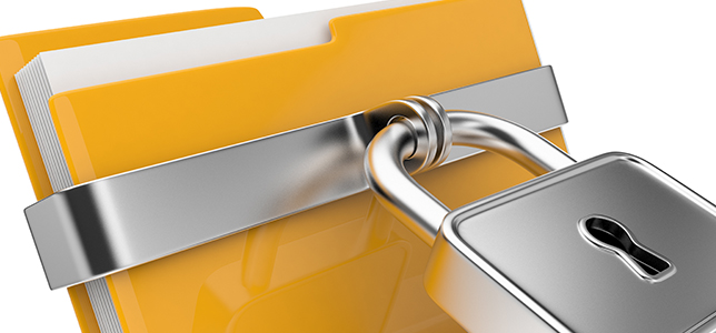 stock image of a folder with a lock on it. Cuz it's data privacy.