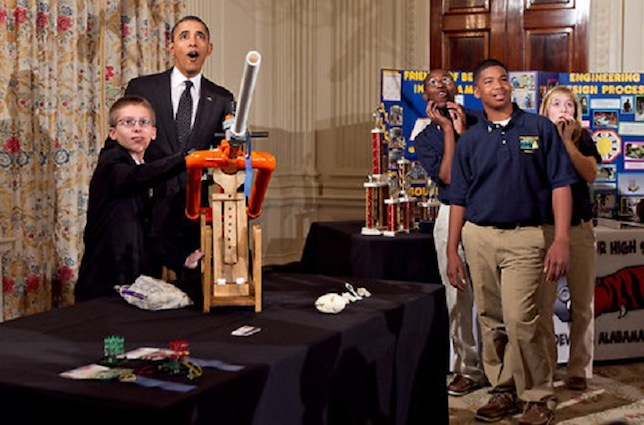 Along with students who demonstrated their science projects for President Barack Obama during the White House Science Fair, the private sector announced $240 million in commitments to STEM education.