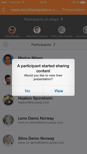Pexip's new app allows users to launch videoconferencing sessions on iOS devices.