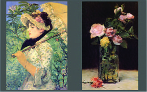 Manet's Roses in a Glass Vase and John Singer Sargent's A Morning Walk
