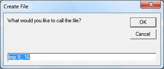 A text file can be created to later send to students.