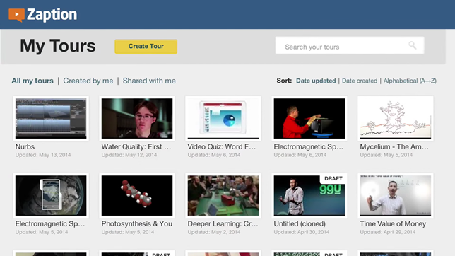 Zaption allows users to embed questions and other  features into video content.