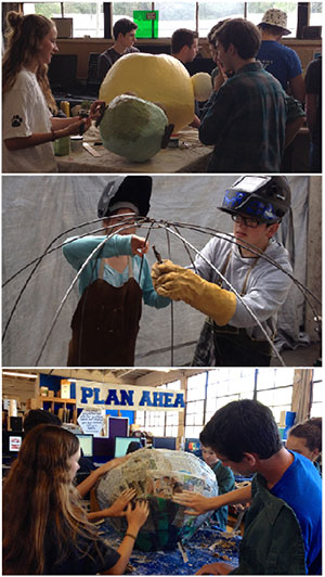 Students engage in activities ranging from 3D printing to sewing in the makerspace at Analy High School.