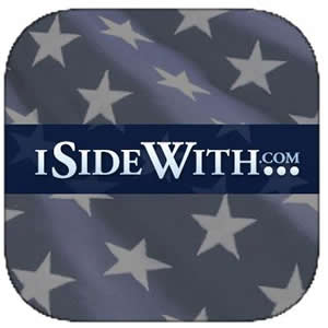 iSideWith is updated regularly to stay current on the issues, making it great for exploring political views and hot-button topics.