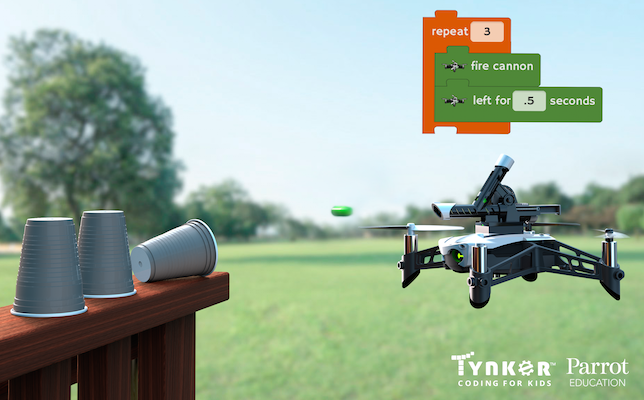 Tynker and Parrot Bundle Coding Lessons with Drones -- THE