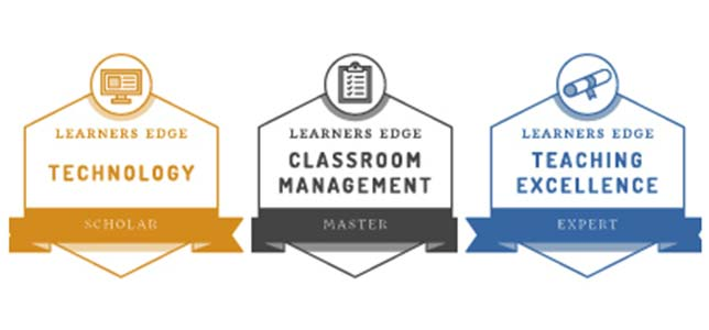 Learners Edge Debuts Cumulative Badges for Teacher PD
