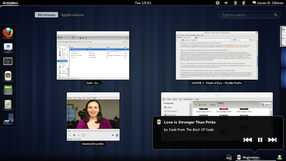 GNOME 3, the default desktop environment in Fedora 15, includes window management features for creating custom workspaces..