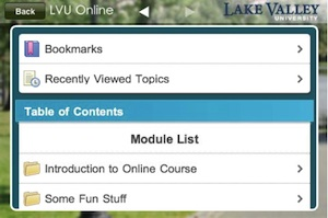 Desire2Learn Campus Life screen shot