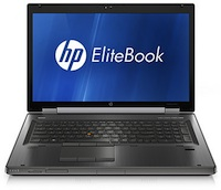 HPs EliteBook 8760w supports up to 32 GB RAM and includes an optional 4 GB Nvidia Quadro 5010M.