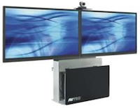 The AVTEQ Elite EL-2000 supports single and dual conferencing displays.