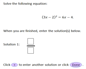 PARCC sample high school math question