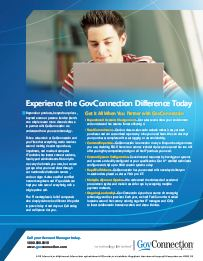 GovConnection PDF: Experience the GovConnection Difference Today