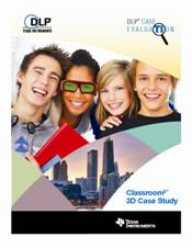 DLP Case Study PDF cover shot Students in 3D glasses, smiling.