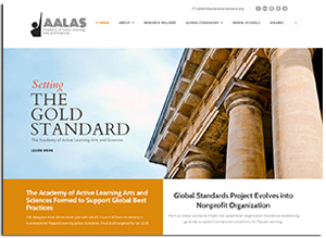 screen shot of AALAS website