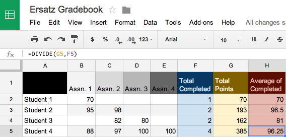 item count example in google sheets