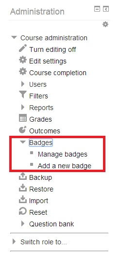 Badges in Moodle
