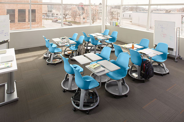 Classroom Furniture Grants ~ Grant get an active learning classroom from steelcase