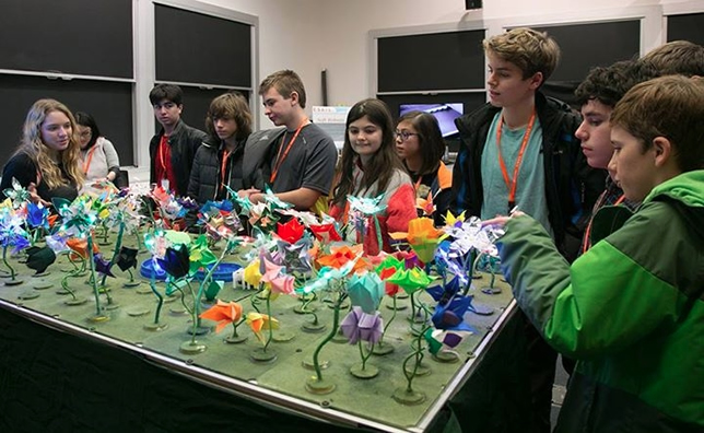 MIT's robotic garden was demonstrated during an Hour of Code event last December.