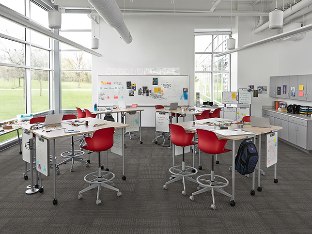 Modern English Classroom : Steelcase education launches active learning center