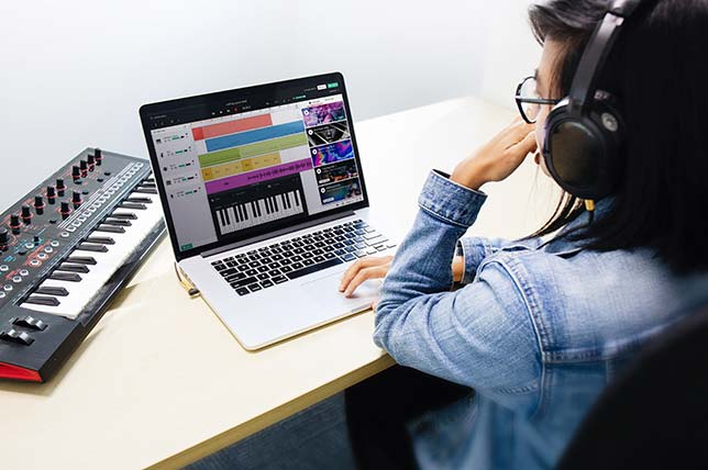 "The ""Feed"" in BandLab for Education allows the teacher to communicate with students. Source: BandLab Technologies"