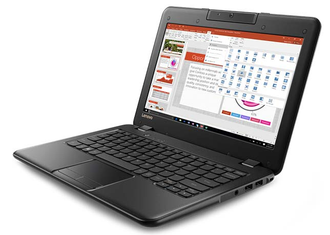 The new Windows 10-based Lenovo 100e