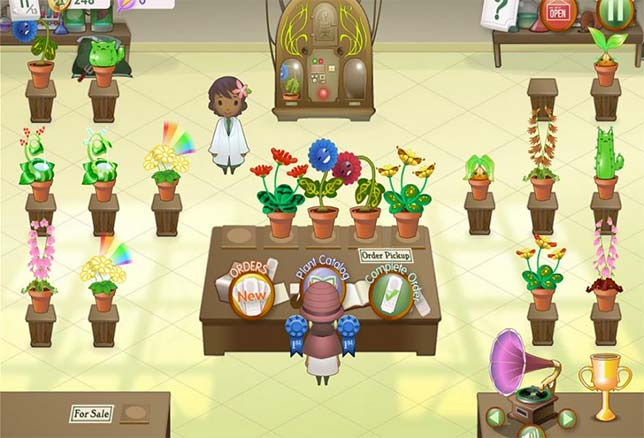 Crazy Plant Shop from Filament Learning, a game that allows students to breed wacky plants in order to learn about trait inheritance and plant genetics