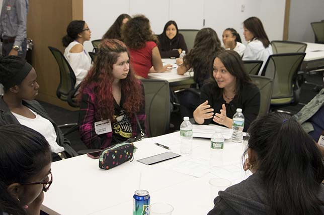 "<p>Recently, a group of high school women spent three weeks as participants  in the <a href=""http://engineering.nyu.edu/k12stem/cs4cs/"" target=""_blank"">Computer Science for  Cyber Security (CS4CS)</a> program, picking up fundamentals at the <a href=""http://engineering.nyu.edu/"" target=""_blank"" title=""NYU Tandon School of Engineering"">NYU Tandon School of Engineering</a>. Nearly  50 students attended classes at the downtown campus of the university, where they  learned about programming, computer architecture, careers in computer science and  cybersecurity and how to do professional networking. Now they're expected to return  to their schools and serve as ""computer science and cybersecurity ambassadors""  and recruit a team of classmates to compete in <a href=""https://csaw.engineering.nyu.edu/"" target=""_blank"">Cyber Security Awareness Week</a>, Tandon's  annual cybersecurity competition. The program is led by members of Tandon's <a href=""http://engineering.nyu.edu/academics/departments/computer-science-engineering"" target=""_blank"">Department  of Computer Science and Engineering</a> and the <a href=""http://osiris.cyber.nyu.edu/"" target=""_blank"">Offensive Security,  Incident Response and Internet Security (OSIRIS) Laboratory</a>.</p> <p>During a day spent with sponsor financial services firm <a href=""http://www.dtcc.com/"" target=""_blank"">Depository Trust and Clearing Corporation</a> (DTCC), participants met with myriad experts to learn about the general topics of  computer science as well as emerging technologies. During one talk, DTCC's Managing  Director and Chief Technology Architect, Rob Palatnick, covered blockchain and cryptocurrency  and spoke about distributed ledger and its impact on the financial industry. As  he told the students, they faced ""great opportunity"" to ""shape the  future"" of those technologies. ""The same way our phones have become so  much more than its initial purpose, we can expect distributed ledger technology  to serve as a platform for innovation in the next five years or so. This is exciting  because all of you will have the opportunity to investigate this area and help shape  the future of these maturing technologies.""</p> <p>Dan Varela, treat management associate and cyber incident analyst,  encouraged the young women to take advantage of the shortage of talent in the IT  security field. ""Of the current positions filled, only 11 percent are filled  by women, which means there is an even bigger opportunity within cybersecurity for  a majority of this audience,"" he said. ""Companies want to diversify their  workforce and gain new perspectives within this area. You have a great opportunity,  so continue to learn and grow.""</p> <p>Tandon sponsors numerous summer-time activities. In June  almost 300 middle school and high school students partook of half a dozen  programs. Almost six in 10 were female students. Activities took students into  numerous campus labs, including those doing research on soil mechanics, music  and audio, mechatronics, biomolecular engineering, genomics and molecular  anthropology.</p>"