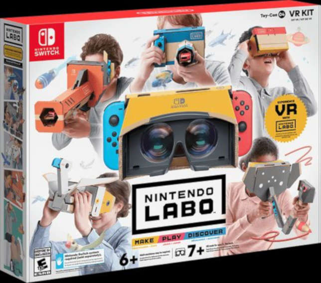 Nintendo is releasing its fourth do-it-yourself cardboard kit this week. Nintendo Labo VR KIT provides an introduction to virtual reality.