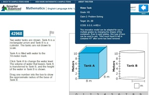Sample mathematics question from the forthcoming Common Core online assessments.