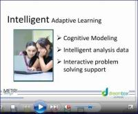 "Webinar screen shot: ""Intelligent - Adaptive Learning"""