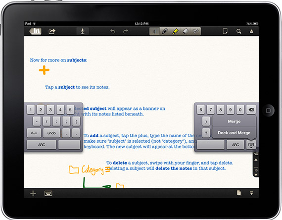 split the ipad keyboard to type with thumbs