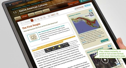 Discovery's Techbooks include a multimedia reference library, interactive maps, digital