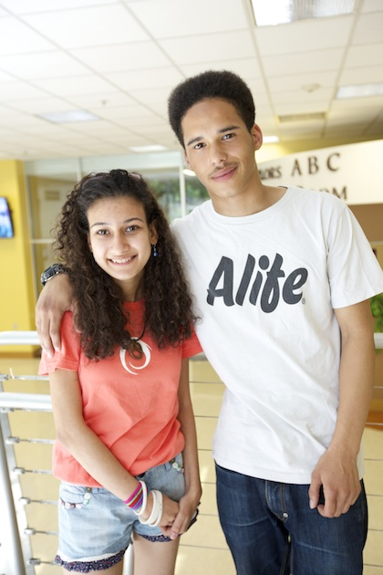 Heba Elshatoury (left) attends 12th grade in Egypt. Connor Paul attends St. Charles Catholic Sixth Form College in London.